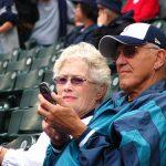 Elderly Sports Fans